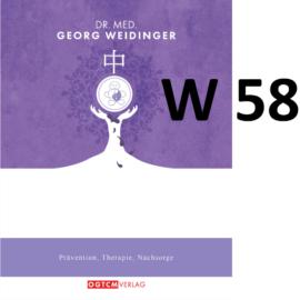 """W58 """"Gegen Leberzirr."""" Dr.Weidinger Granulat"""
